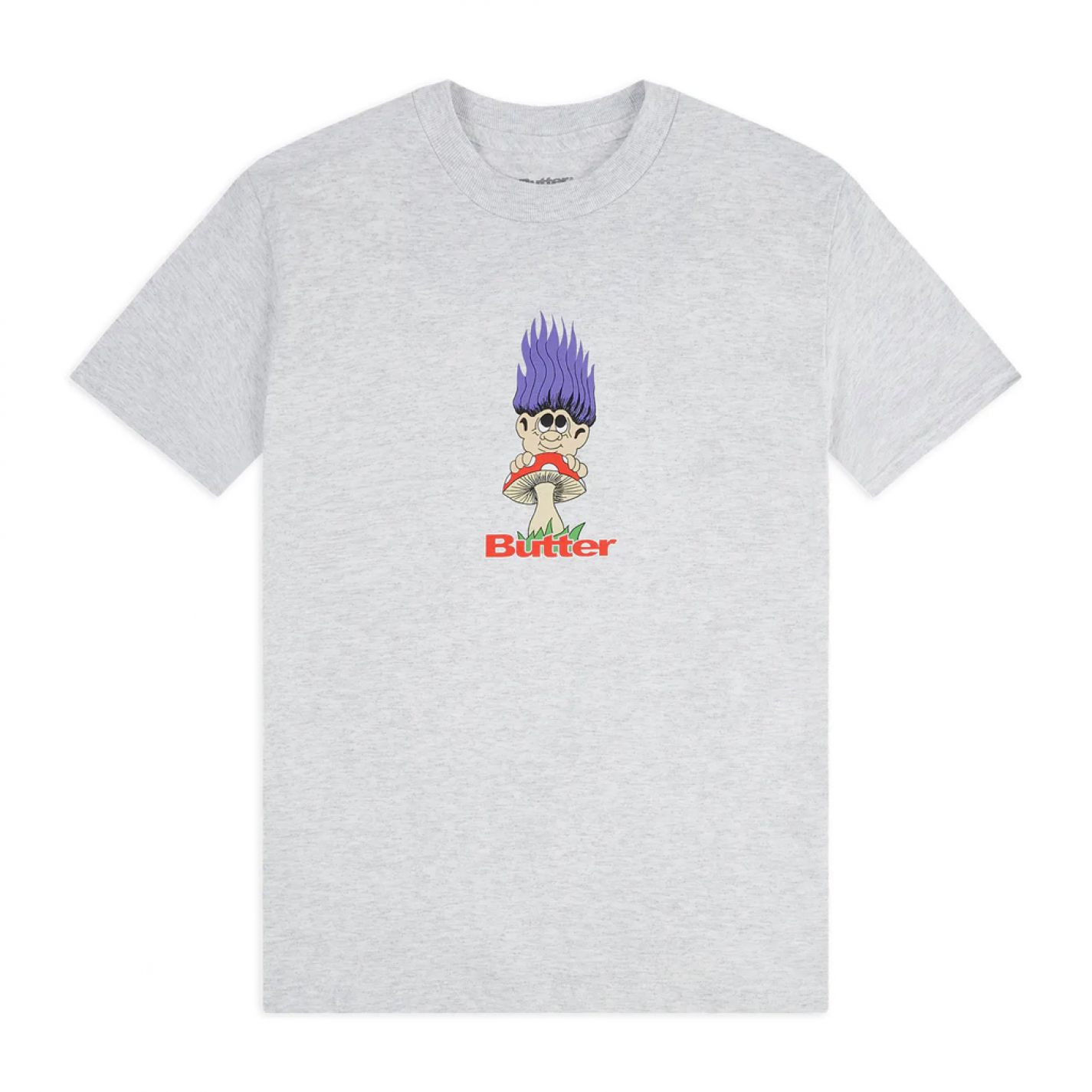 Butter Goods Troll Tee Ash Grey