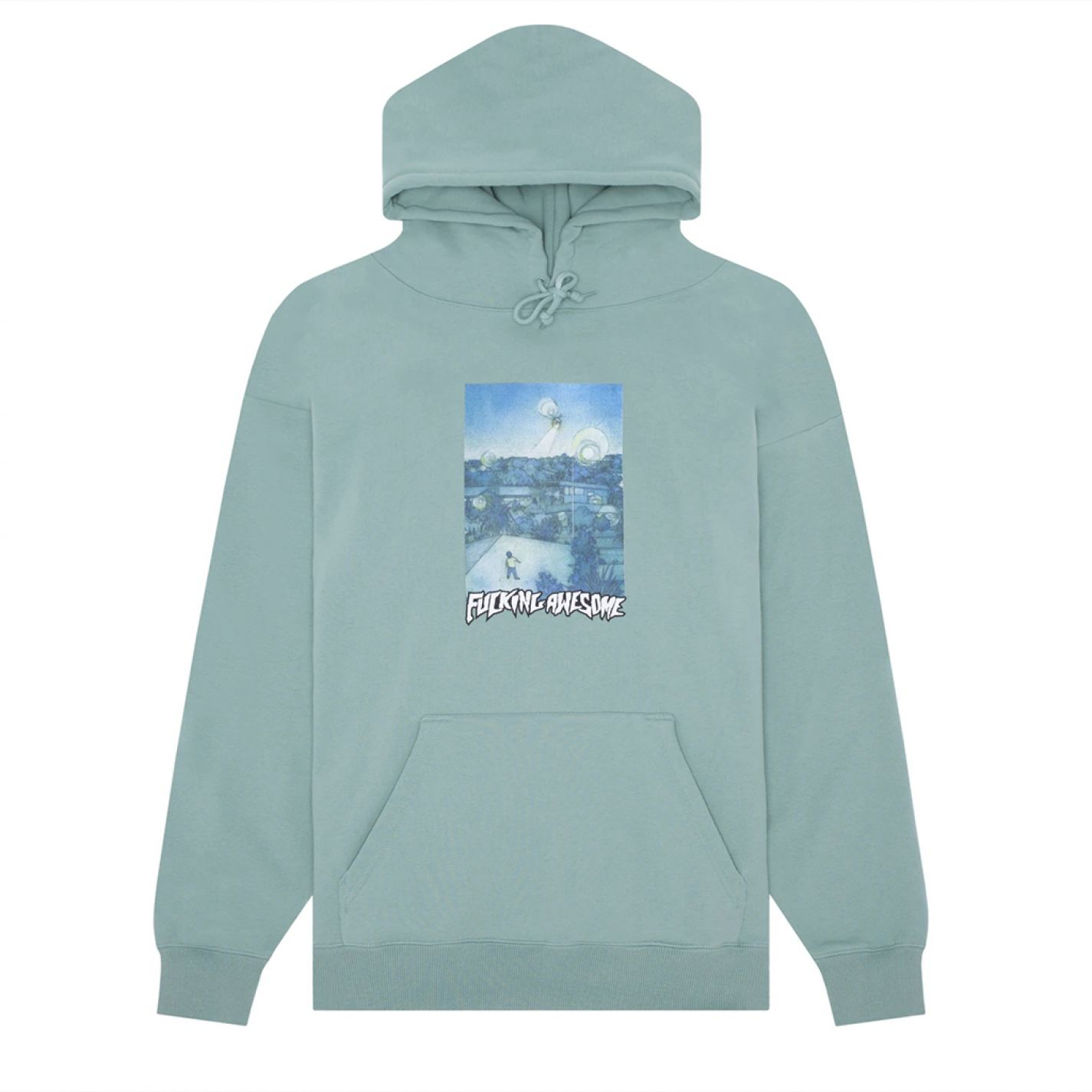 Fucking Awesome Helicopter Hoodie Teal