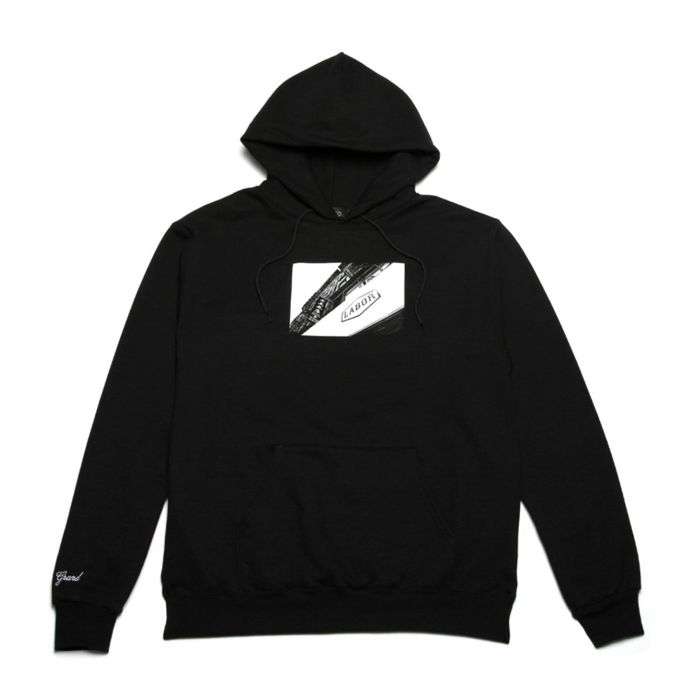 Grand Collection Labor Hoodie Black